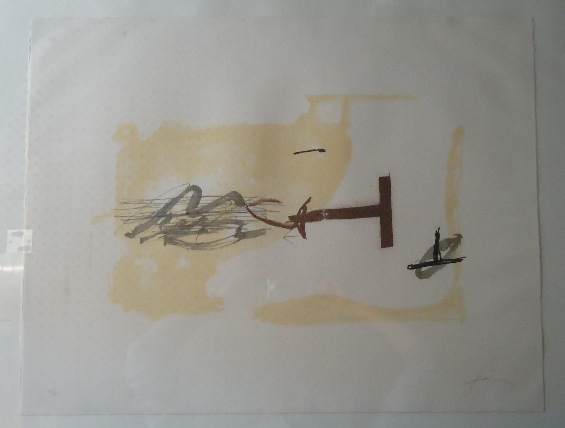 Lithographie Antoni Tàpies Après