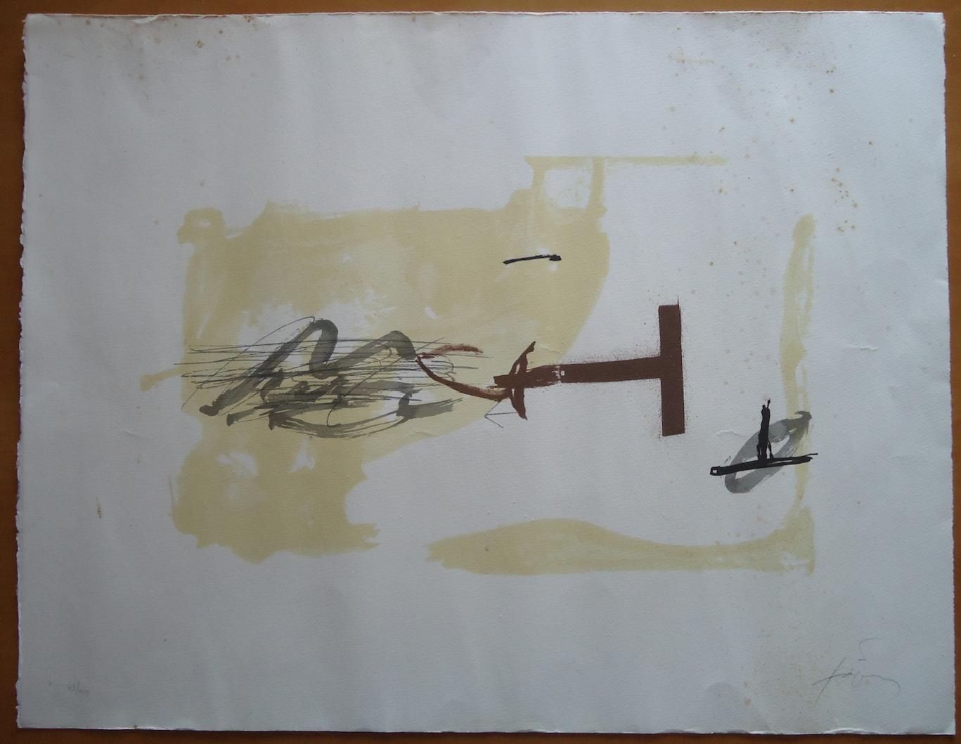 Lithographie Antoni Tàpies Avant